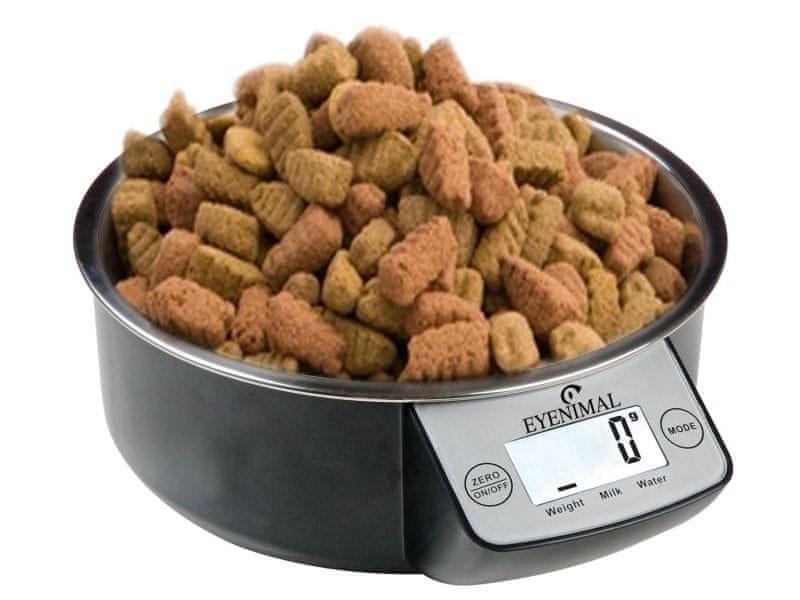 EYENIMAL Miska pro psy s váhou EYENIMAL 1 litr - černá