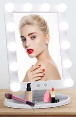 Bezdoteku Kosmetické zrcátko HOLYWOOD s LED žárovkami bílé