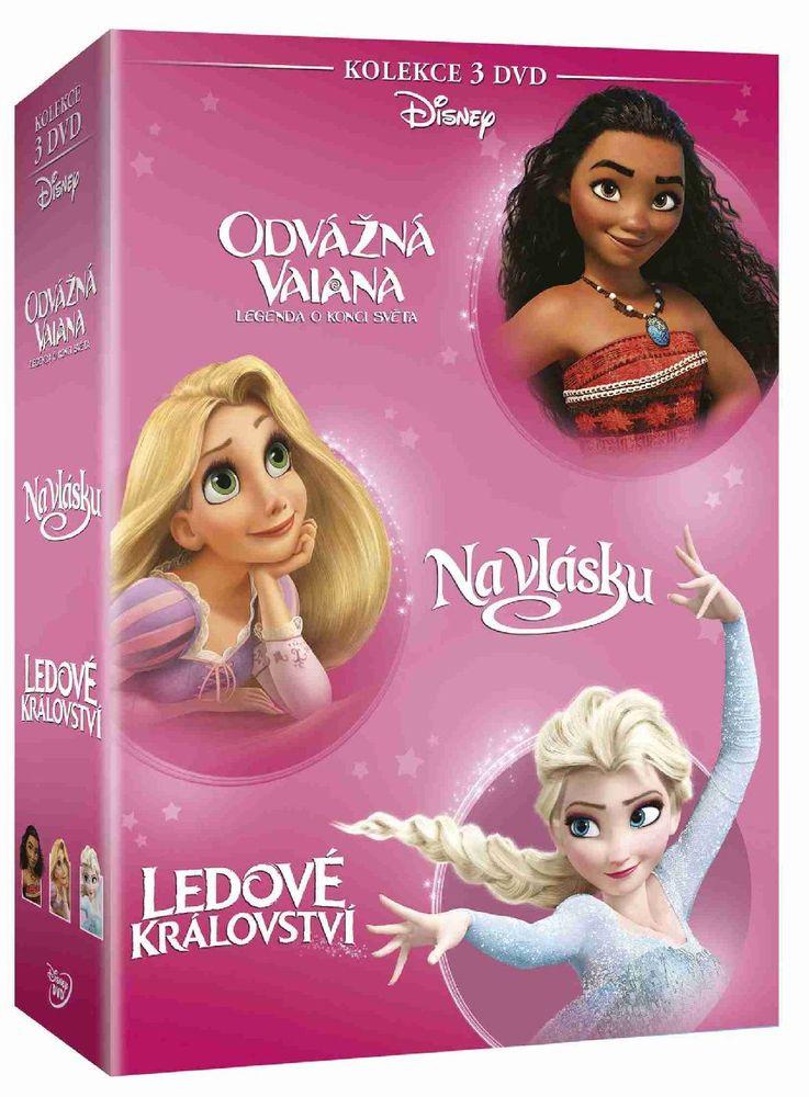 Odvážná Vaiana + Na vlásku + Ledové království - kolekce - 3 DVD