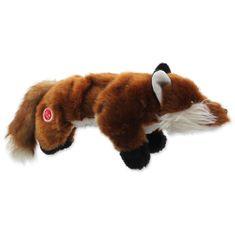 Dog Fantasy Hračka Skinneeez Plush pískací liška 45 cm
