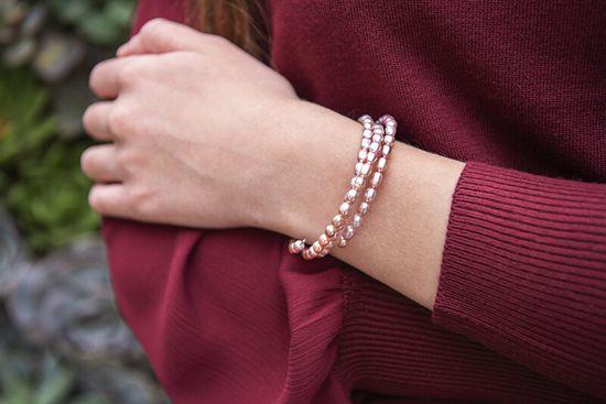 JwL Luxury Pearls Zapestnica iz pravih roza biserov JL0570
