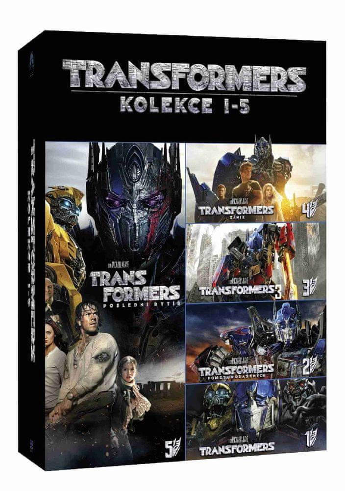 TRANSFORMERS 1-5 KOLEKCE - 5 DVD