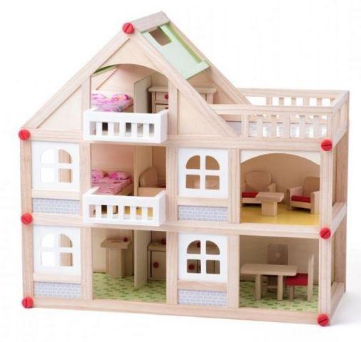 Woody Woody Domeček dvoupatrový s balkonem a příslušentsvím