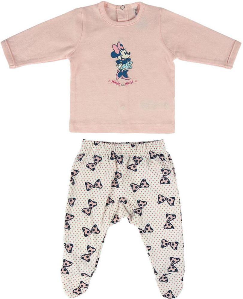 Disney dívčí kojenecká souprava Minnie 56 růžová