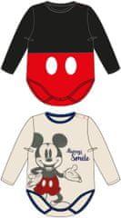Disney gyermek body 2pack MICKEY MOUSE, 60, piros