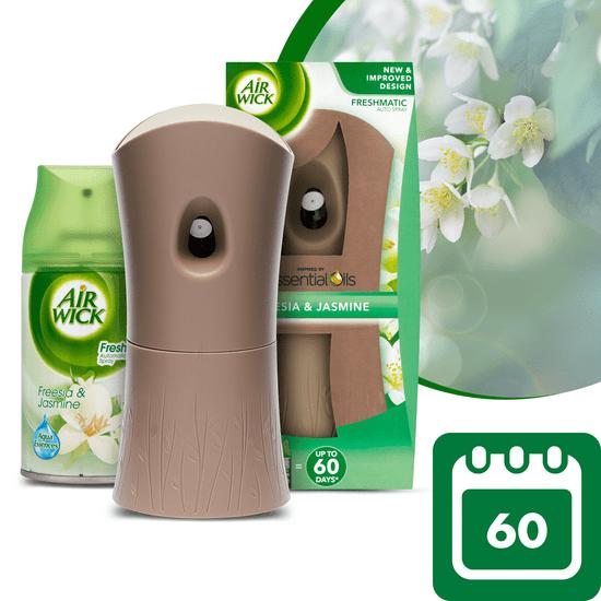 Air wick Freshmatic osvěžovač vzduchu + náplň Bílé květy frézie 250 ml - zánovní