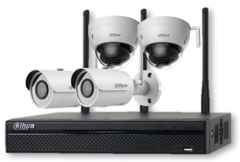 Dahua KIT-4C IN-W, 1× NVR, 2× IP bullet + 2× IP dome, IP67 (KIT-4C IN-W)