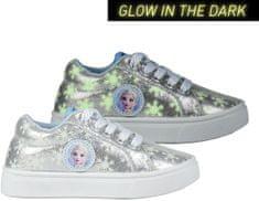 Disney dívčí tenisky svítící ve tmě FROZEN 2 2300004351 31 stříbrná
