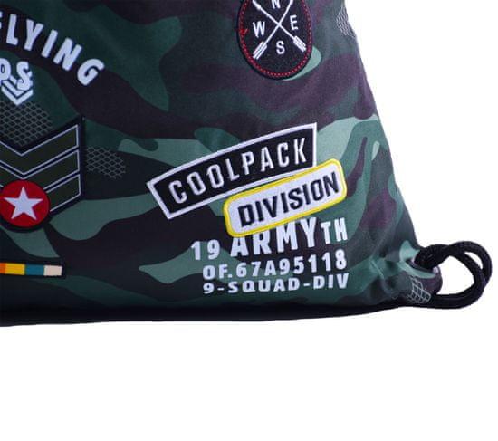 CoolPack Vak na záda Camo Green Badges