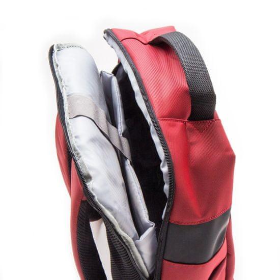 MAX 15.6 nahrbtnik za prenosnik, vinsko rdeč