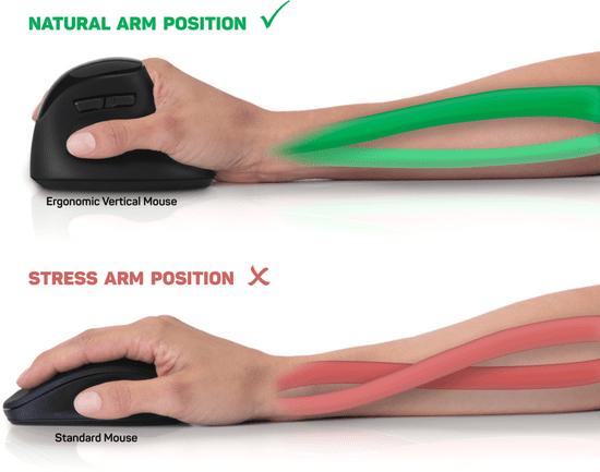 Connect IT wertykalna mysz ergonomiczna FOR HEALTH (CMO-2801-BK)