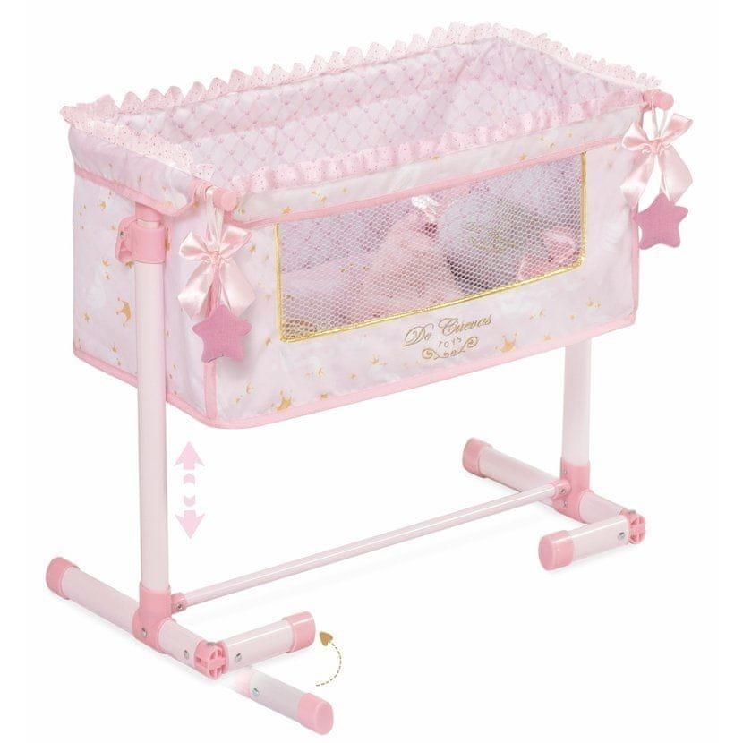 DeCuevas Novorozenecká postýlka pro panenky s doplňky Maria