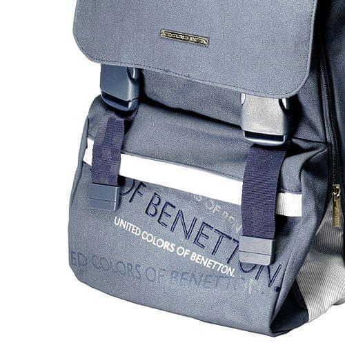Benetton Plecak szkolny , na niebieskich sprzączkach