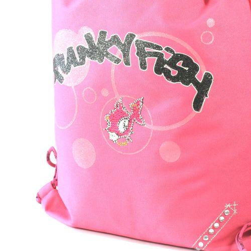 Punky Fish Sportovní vak , Sportovní vak kroužky růžová