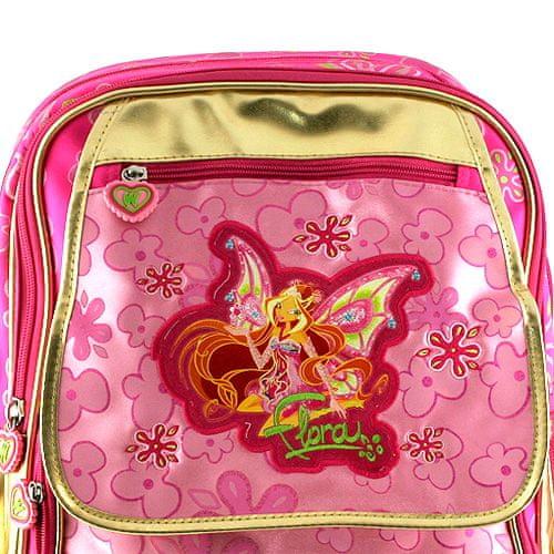 Winx Club Iskolai hátizsák , #3 cipzár zsebbel Gold Enchantix, WinX