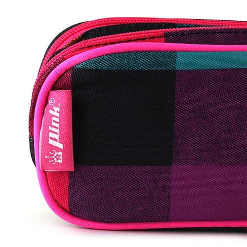 Pink Roza škatla za svinčnike, Roza elipse šolski svinčnik