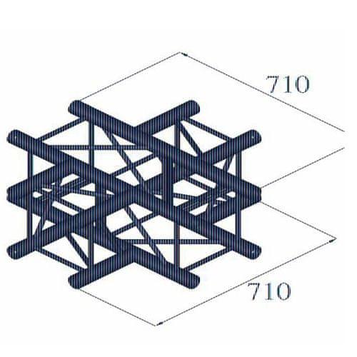 Alutruss Koncový krížový diel , Quadlock 6082C-41, 4-koncový krížový diel