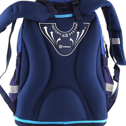 Target Ciljni nahrbtnik šole, 3D delfin, barva modra