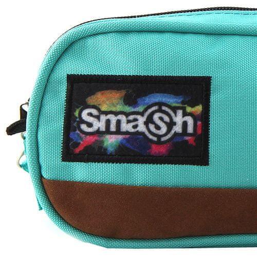 Smash Školský peračník bez náplne , mentolový, 2 vrecká