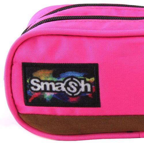 Smash Šolska škatla za svinčnike brez polnila, roza, 2 žepa