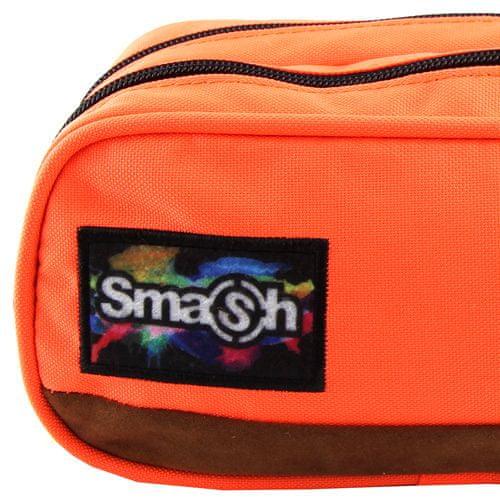 Smash Šolska škatla za svinčnike brez polnila, oranžna, 2 žepa