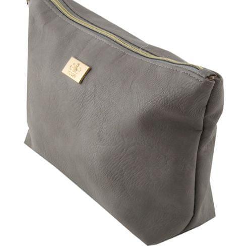 Elite Models Kosmetická taška ASST, Šedá se zlatým zipem