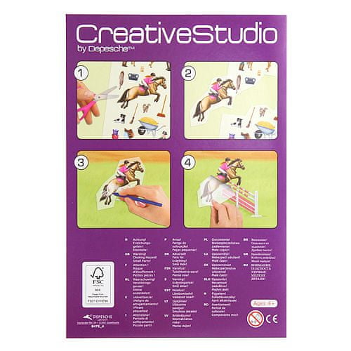 Create Your Maľovanky, kreatívna sada ASST, Konská jazdiareň