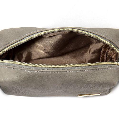 Elite Models Kosmetická taška , Šedá se zlatým zipem