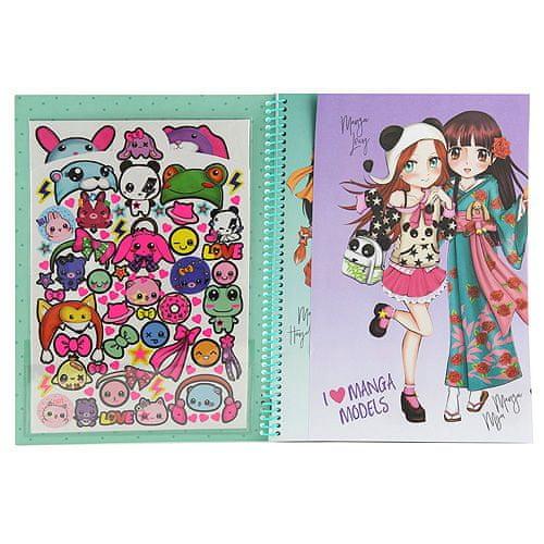 Manga Model Omalovánky , Manga Christy, se samolepkami