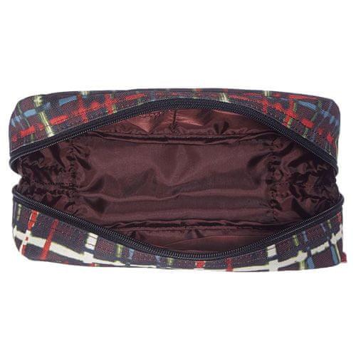Reisenthel Kozmetična torbica , Črna z barvnimi črtami večglasje