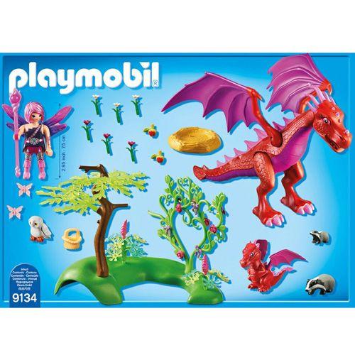 Playmobil Smok z młodym , Wróżki i jednorożce, 53 sztuki