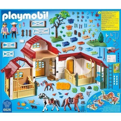 Playmobil Velik ranč za konje, Jahalno dvorišče, 185 kosov