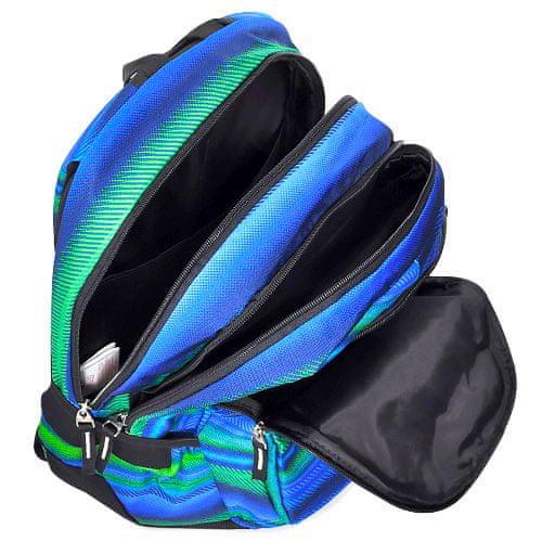 Target Cél diák hátizsák, Zöld-kék mintával