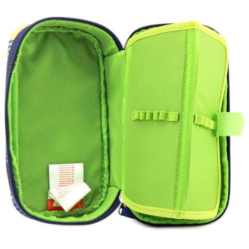 Target Šolska škatla za svinčnike brez refill, Kompaktna, rumeno-modra z vzorcem