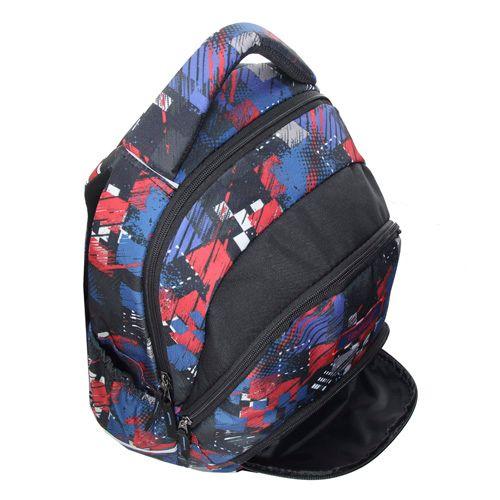 Target Ciljni nahrbtnik za učence, Rdeče-modri vzorci
