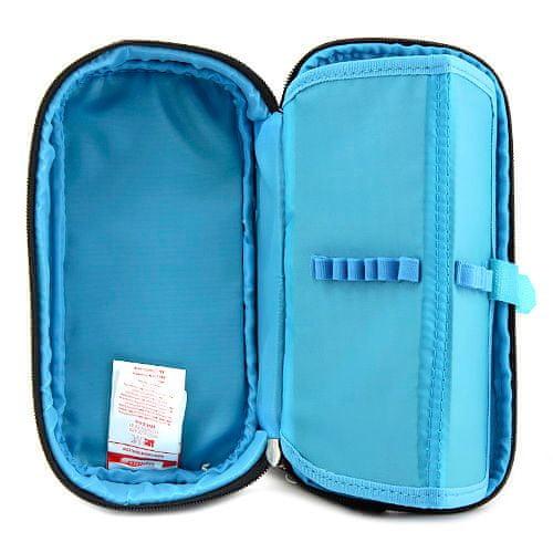 Target Šolska škatla za svinčnike brez refill, Kompakten, sivo-modro-črn