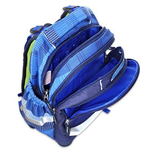 Target Ciljni nahrbtnik šole, Dirkalni avtomobil, modre barve