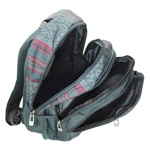 Target Ciljni nahrbtnik šole, Rdeče-siva z vzorcem
