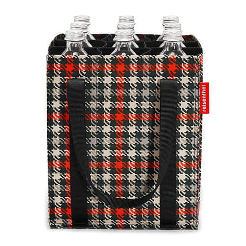Reisenthel Vrečka za steklenice , Črno in rdeče z motivom petdesetih   vrečka za steklenice