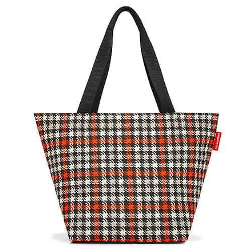 Reisenthel Nákupní taška , Černo-červená s motivem padesátek | shopper M