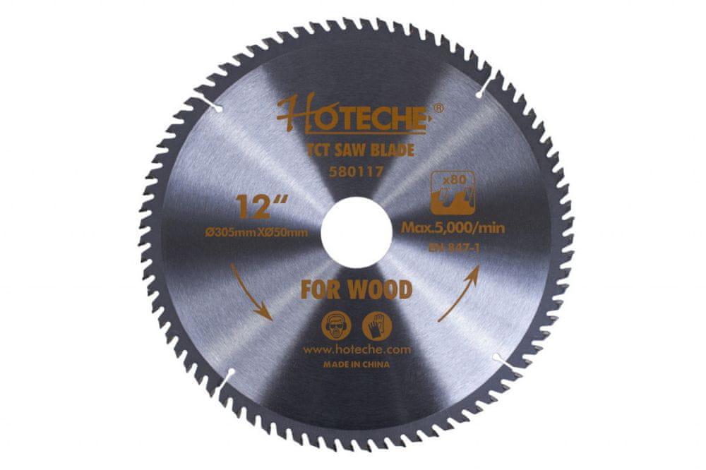 Hoteche Pilový kotouč na dřevo 305 mm, 80 zubů - HT580117 | Hoteche