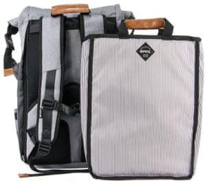 PKG Concord Laptop Backpack (PKG-CONC-LG01TN) odporna tkanina zložljiv zgornji del ABS zaponke