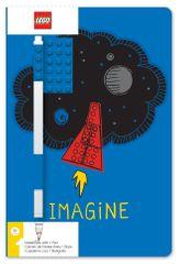 LEGO Stationery notatnik A5 z niebieskim długopisem - Imagine