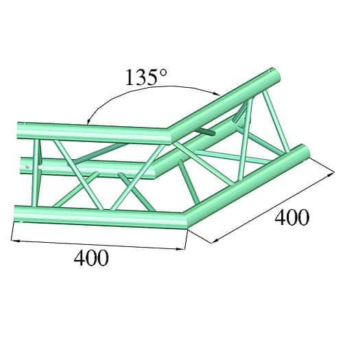 Alutruss Konstrukcja budynku , Zamek deko DQ3-PAC23, 135 °