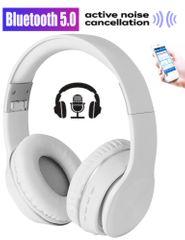 Platinet Freestyle FH0925W naglavne Bluetooth 5.0 slušalke, Active Noise Cancelling, bele