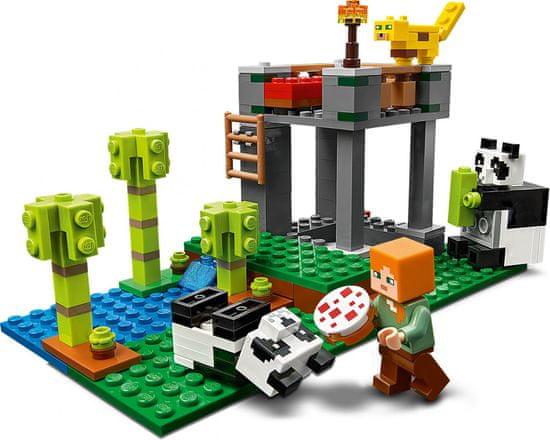 LEGO Minecraft 21158 panda kocke