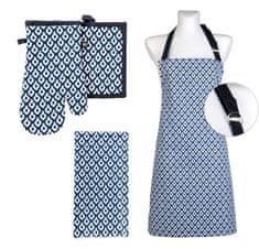 My Best Home zestaw kuchenny 4 TIMEX 100% bawełna, niebieski