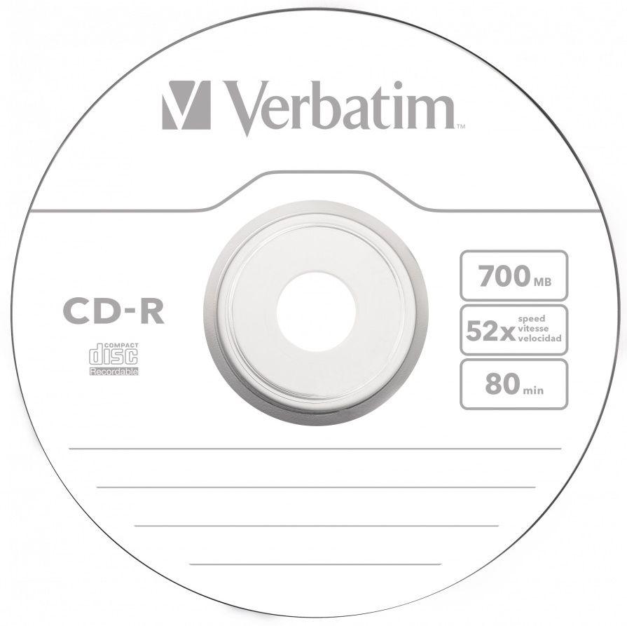 Verbatim CD-R 700MB, 52x, wrap 50 ks (43787)