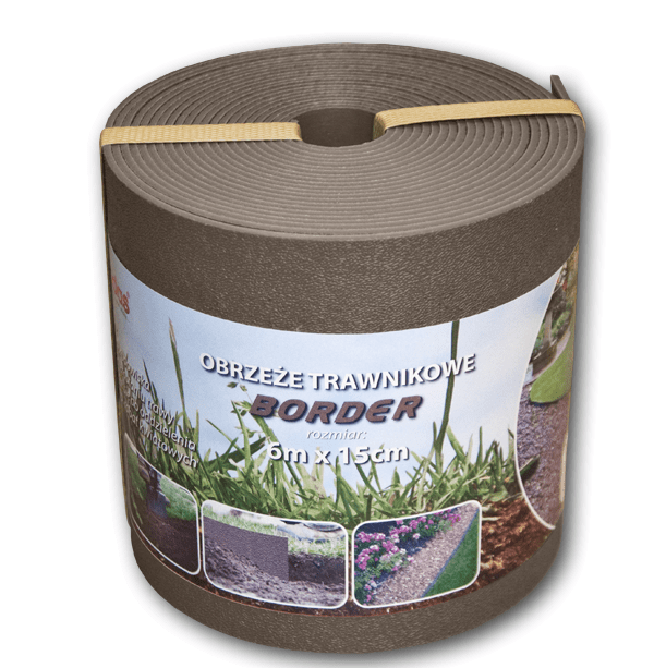 Bradas Trávníkový lem BORDER 6m x 15cm hnědý BR-OBPBR06150