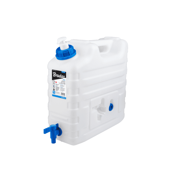 Bradas Plastový kanystr na vodu 15l s kohoutkem a dávkovačem mýdla KTZD15 BR-KTZD15